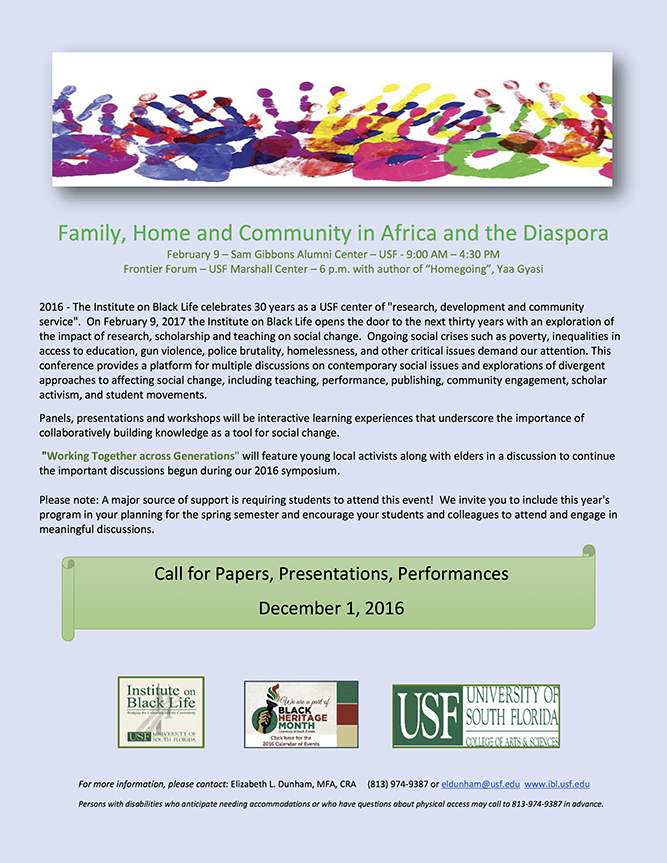 Family, Home and Community in Africa and the Diaspora