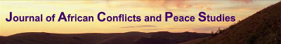 Journal of African Conflicts and Peace Studies banner