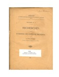 Investigations on the Echinoids of the Coasts of Provence: A Translation of <em>Recherches sur les Echinides des Cotes de Provence</em> by René Kœhler and John M. Lawrence