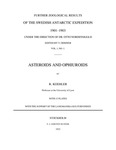 Asteroids and Ophiuroids Collected by the Swedish Antarctic Expedition (1901–03)