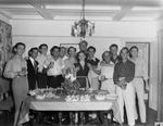 Group portrait at a party