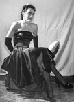 Drag queen in a sleeveless dress
