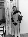 Drag queen wearing a fur stole