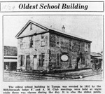 Copy of photo of a school building at corner of Franklin and Whiting streets, built in 1852