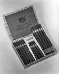 Advertisement photograph featuring a box of Grayhurt Long Filler Cigars