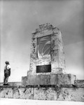 Boy at the 1935 hurricane victim memorial on Overseas Highway in Upper Matecumbe Key