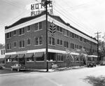 Hotel Puritan, 301 Plant Avenue, east facade, and Platt Street restaurant entrance, north facade