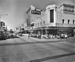 Franklin Street, intersection with Polk Street, view north with automobile and pedestrian traffic and the F.W. Woolworth Company and Kress department stores