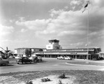 Tampa International Airport terminal building viewed from Columbus Drive to the northwest