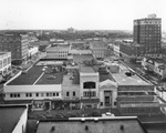 Rooftops of five hundred block of Franklin Street, intersected by Madison and Twiggs Streets