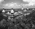 University of Tampa, roofline with minarets viewed from across Plant Park