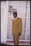Cleveland Johnson in front of The Weekly Challenger office.