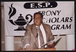 Gentleman speaking at Ebony Scholars Program (E.S.P.)