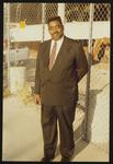 Portrait of gentleman in front of construction