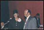 Robert Anders and Nawretta M. Guilford speaking at an event