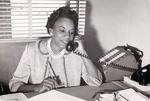 Dr. Johnnie Ruth Clarke on the phone, photograph 4