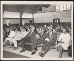 Attendees at January 1, 1976 Emancipation Day pray, am - New Hope M.B. Church