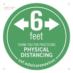 6 Feet Physical Distancing Floor Decal 8-inch
