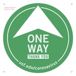 Directional Arrow Floor Decal v2a 8-inch by USF