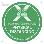 Do Not Sit Here Decal v1a 8-inch Print