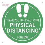 Physical Distancing Floor Decal v5a 8 inch