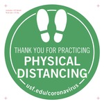 Physical Distancing Floor Decal v6a 8 inch