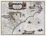 Virginiae partis australis, et Floridae partis orientalis, interjacentiumq[ue] regionum nova descriptio
