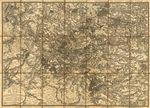 Carte des environs de Paris: contenant les villes, bourgs, villages, Ã  la distance de 20 l. de la Capitale, sur 40 lieues du Nord au Sud, et 60 lieues de l'Est a l'Ouest