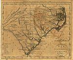 Map of North and South Carolina