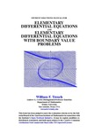 Student Solutions Manual for Elementary Differential Equations and Elementary Differential Equations with Boundary Value Problems by William F. Trench