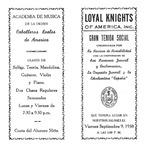 [Program] - Gran tendia social by Alice Menéndez and Loyal Knights of America (Tampa, Fla.)