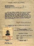 Affidavit to explain lack of passport