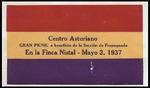 [Program] - Gran picnic a beneficio de la Sección de Propaganda by Alice Menéndez and Centro Asturiano de Tampa
