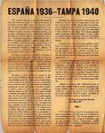 [Manifesto] - España 1936--Tampa 1940