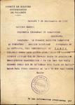 Letter,1936 Sept. 7, Palamós, Spain, to Comisaria Delegadad de Pasaportes, Barcelona