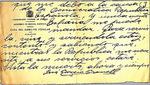 Letter, Albacete, Spain, to Victoriano Manteiga