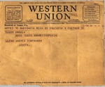 Telegram, 1936 Nov. 30, on board Vulcania, to Ramón Oural
