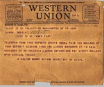 Telegram, 1936 Nov. 24, Washington, D.C., to Ramón Oural