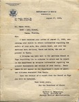 Letter, 1936 Aug. 17, Washington, D.C., to Ramón Oural
