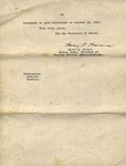 Letter, 1937 Apr. 14, Washington, D.C., to Ramón Oural by United States. Department of State