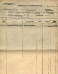 [Government form] - Schedule of disbursements