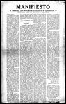 Manifesto: a todos los que simpatizaron durante la guerra con el gobierno leal de republica espanola by El Cuerpo Ejecutive del Capitulo de Tampa