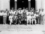 Photograph - Men of the Popular Democratic Committee to Aid Spain with Gen. Santiago Philimore