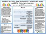Identifying the Unique Needs of Generation Z Students Who Identify as LGBTQ+ Within Higher Education by Noah Miller, Tiffany Chenneville, and Kemesha Gabbidon