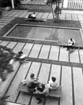 Courtyard of the Administration Building, circa 1960