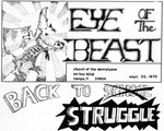 "Cover of underground newspaper ""Eye of the beast."""