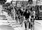 Bicycle riders' protest