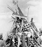 Homecoming bonfire, 1967