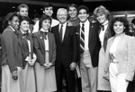 Former U.S. President Jimmy Carter with students at USF