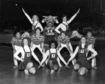 Cheerleaders in 1977 with Rocky